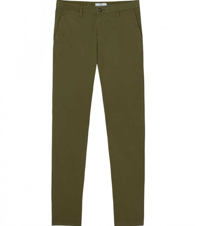 FLASH - Slim fit cotton chinos trousers, khaki