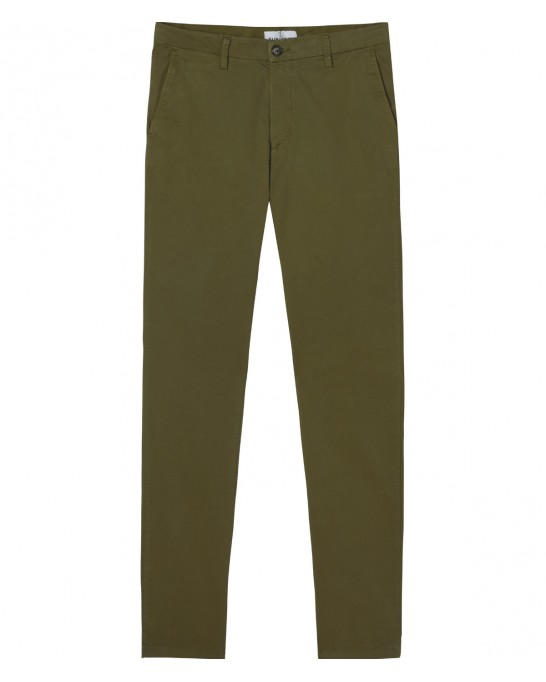 STRETCH-COTTON KHAKI CHINO PANTS FLASH