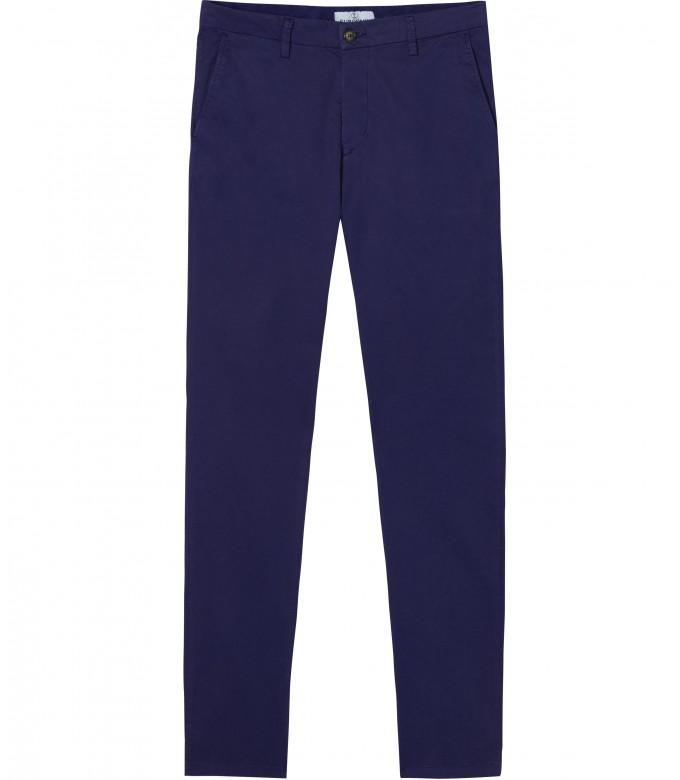 FLASH - Slim fit cotton chinos, ink blue
