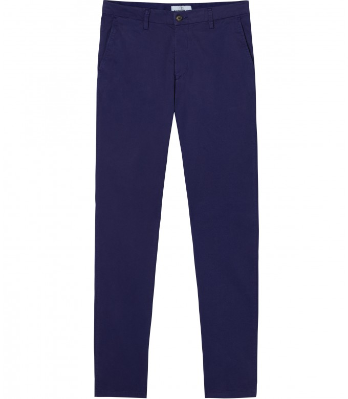 FLASH - Slim fit cotton chinos, ink blue