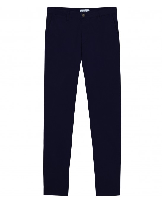FLASH - Slim fit cotton chinos trousers, navy