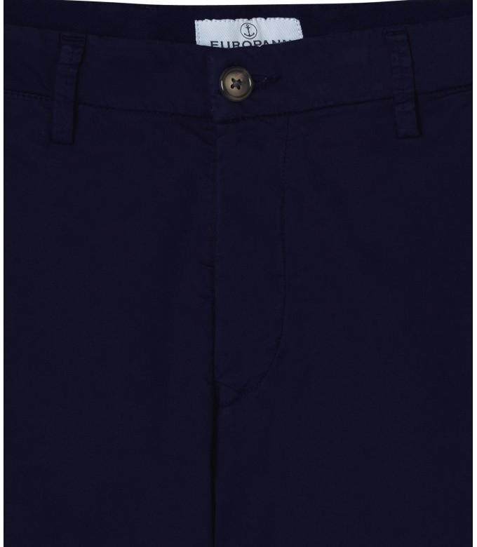 STRETCH-COTTON BLUE NAVY CHINO PANTS FLASH
