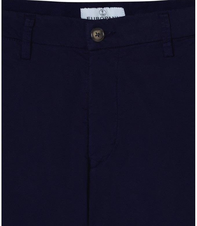 STRETCH-COTTON BLUE NAVY CHINO PANTS FLASH