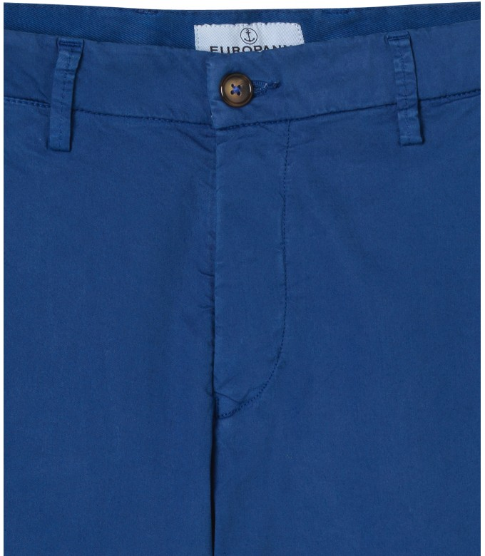 STRETCH-COTTON KLEIN BLUE CHINO PANTS FLASH