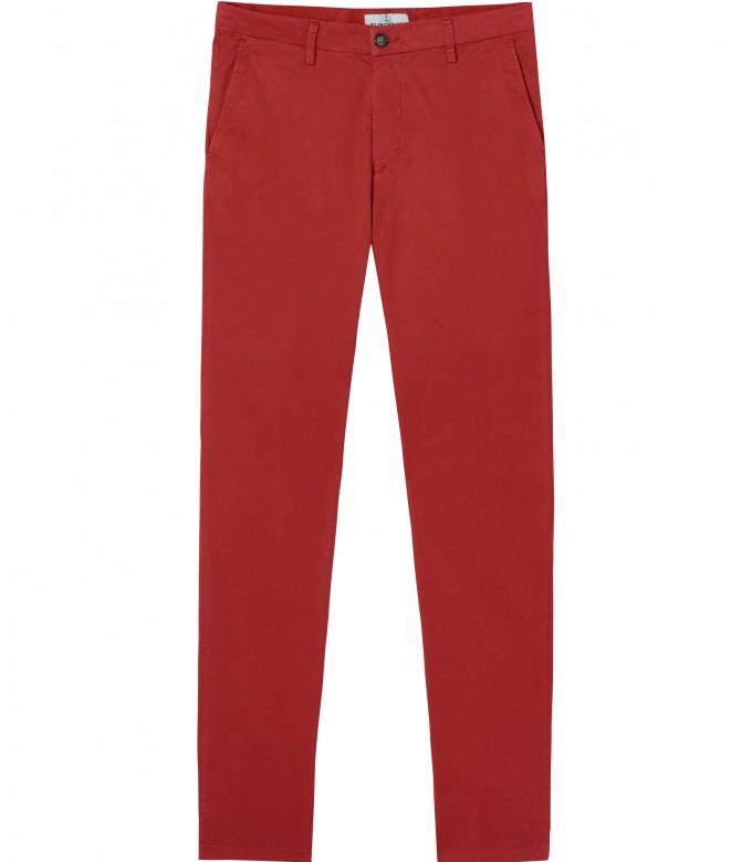 FLASH - Slim fit cotton chinos, red