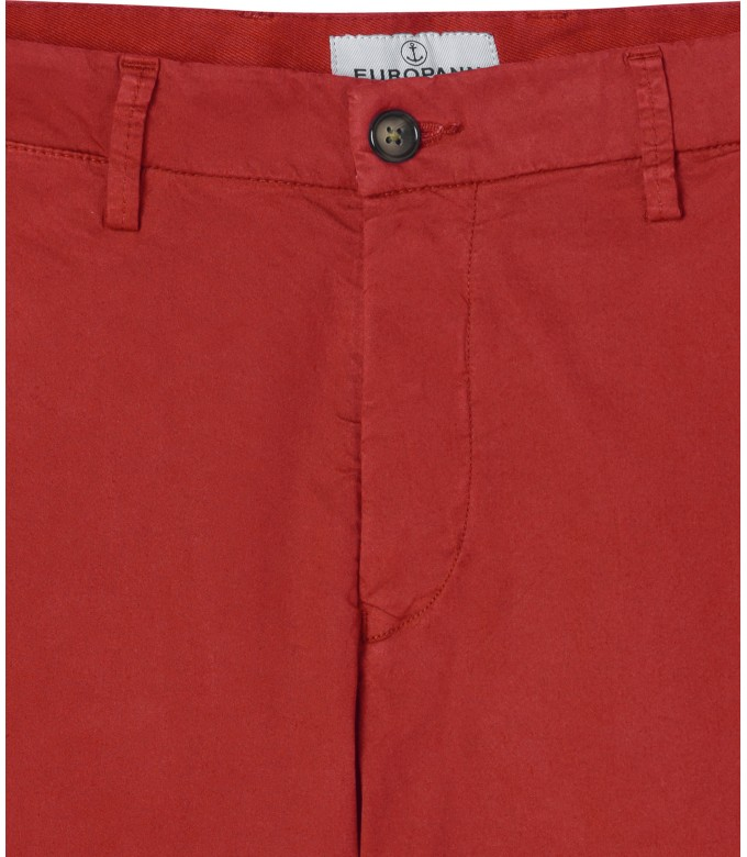 FLASH - Pantalon chino slim, rouge