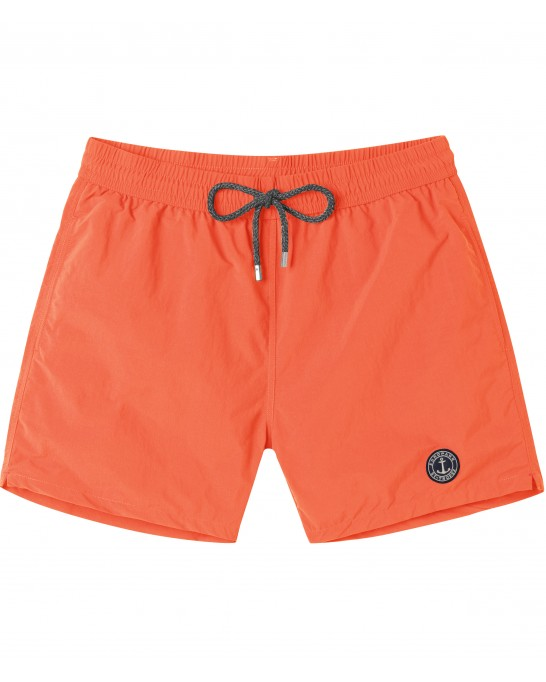 SOFT - Plain color slim fit swimshorts, orange