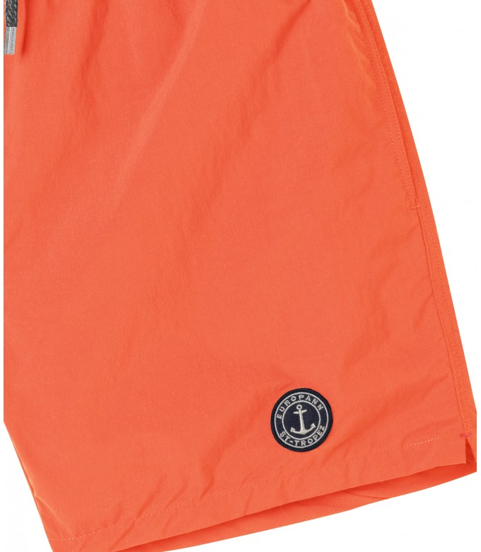 SOFT - Short de bain uni coloré, orange