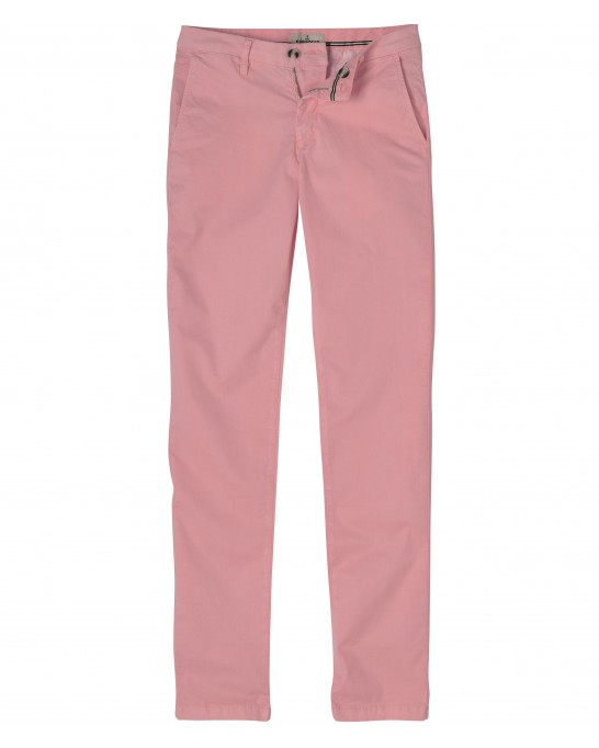 STRETCH-COTTON PINK CHINO PANTS FLASH
