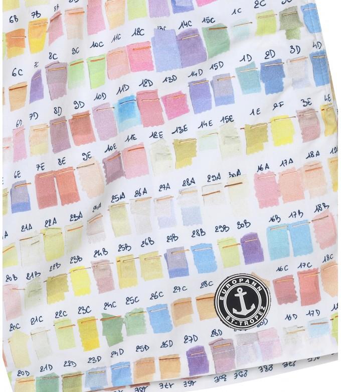 BORNEO - Pantone printed swim shorts, pastel