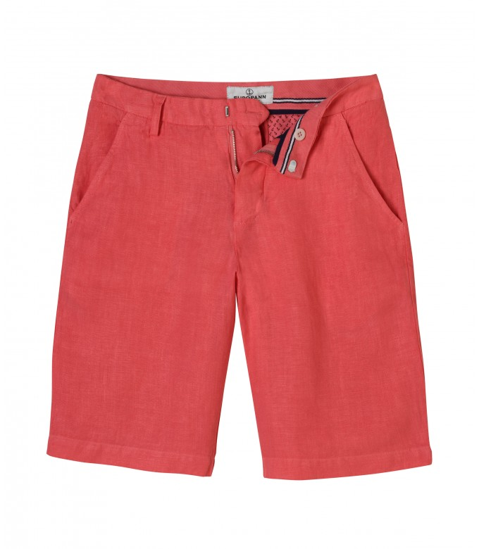 COLORADO - Casual linen bermudas, red