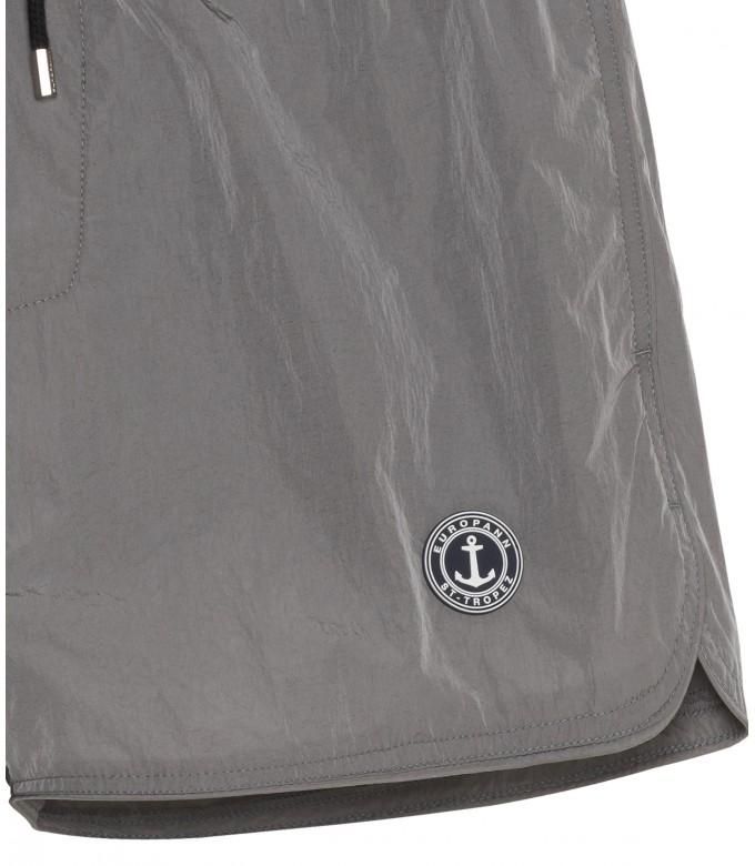 ABILIO - Plain grey swim shorts