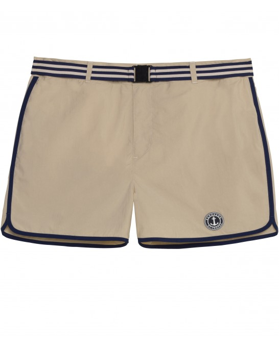 BEIGE NAVY BLUE SWIMSHORT JACK