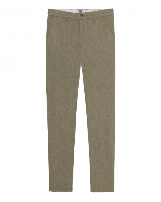 LINEN CHINO PANTS GORDON KAKI