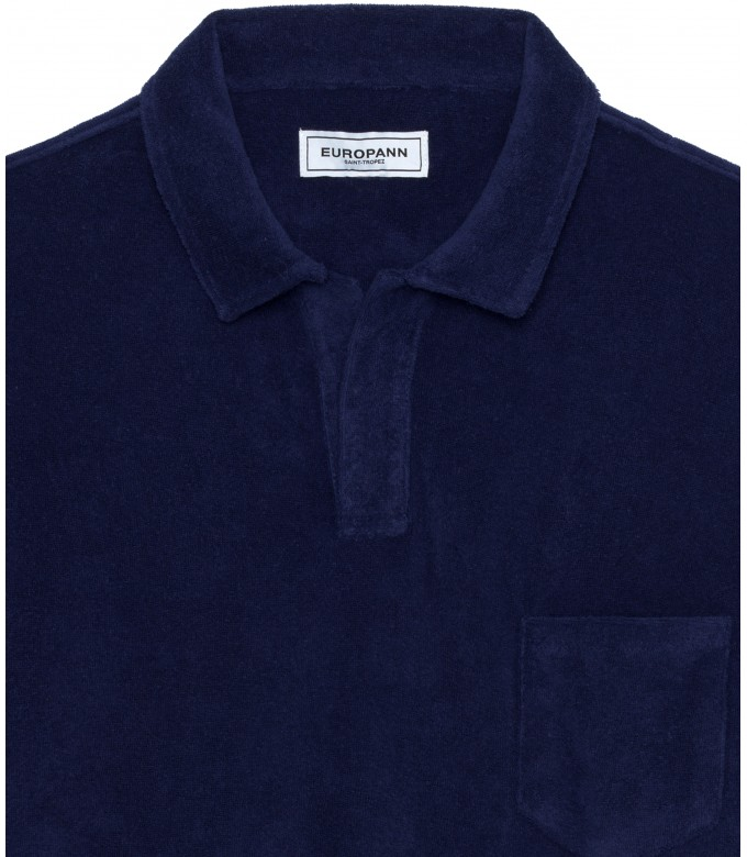 TOWELLING POLO MITCH NAVY BLUE
