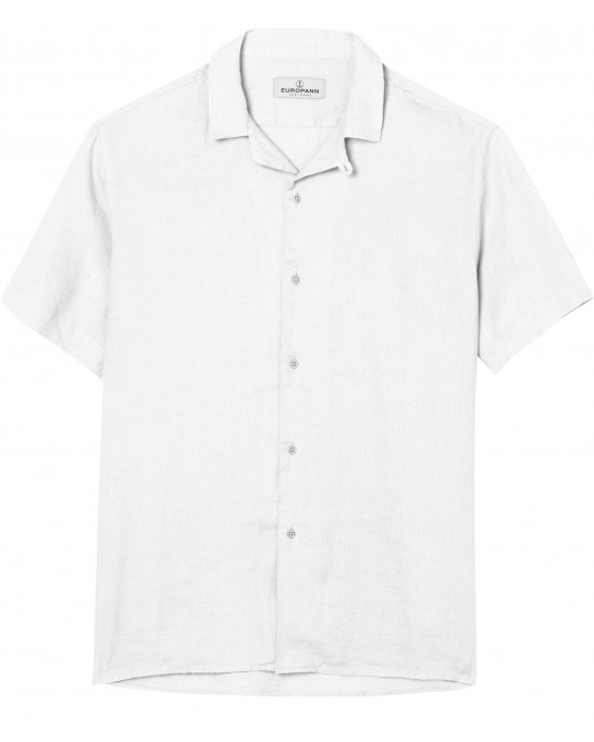 PLAIN VISCOSE TEE SHIRT SHORT SLEEVE  MOOREA WHITE