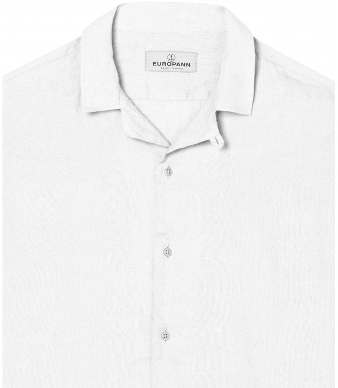 MOOREA - Plain short sleeves shirt, white