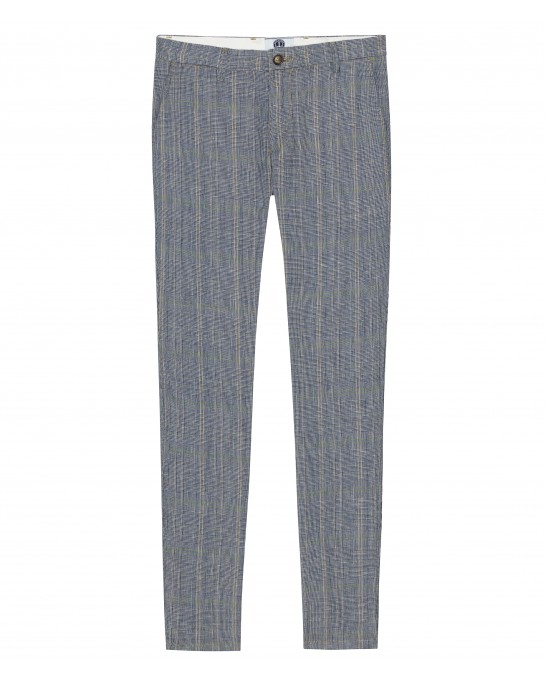 CHECK PANTS PHIL NAVY BLUE