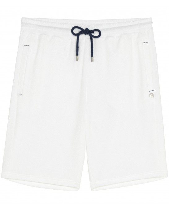 WHITE SPONGE JOGGING SHORTS NOAH