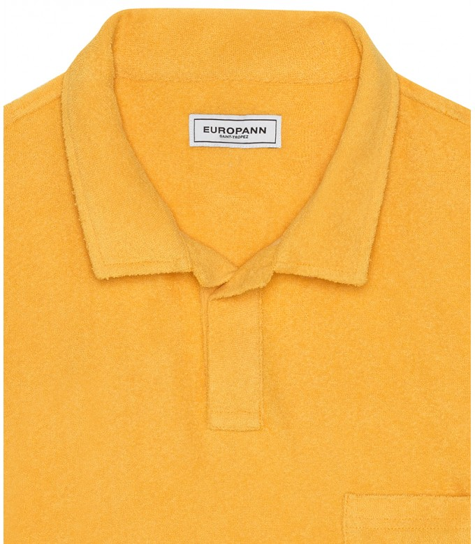 TOWELLING POLO MITCH YELLOW