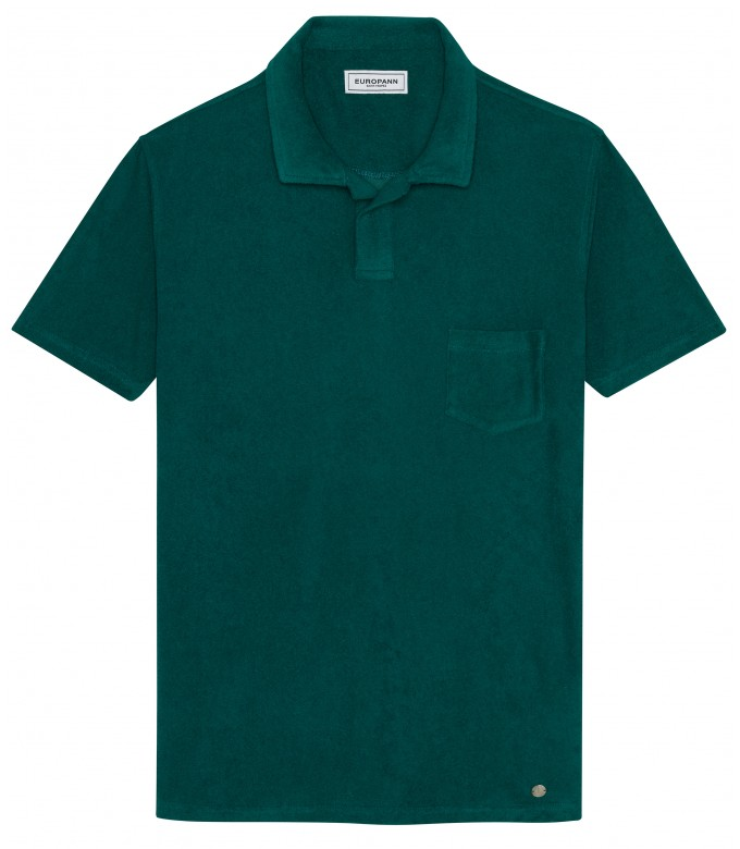 TOWELLING POLO MITCH GREEN