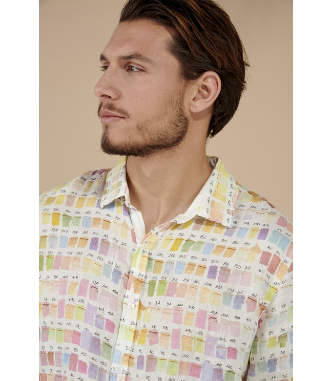 ROSS - Pantone's colors-print linen shirt pastel