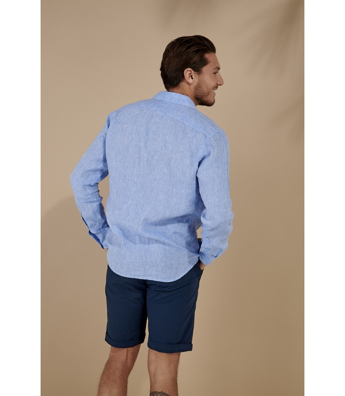 JONAS - Casual linen shirt, light blue