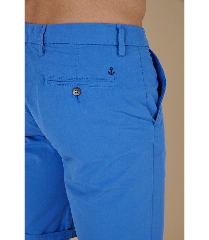 TEXAS -  Slim fit  Chino Bermudas, Klein blue