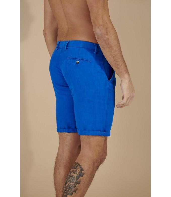 COLORADO - Casual linen bermudas, klein blue