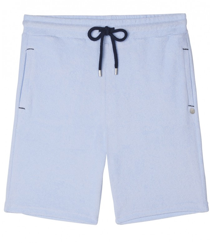 SKY BLUE SPONGE JOGGING SHORTS NOAH