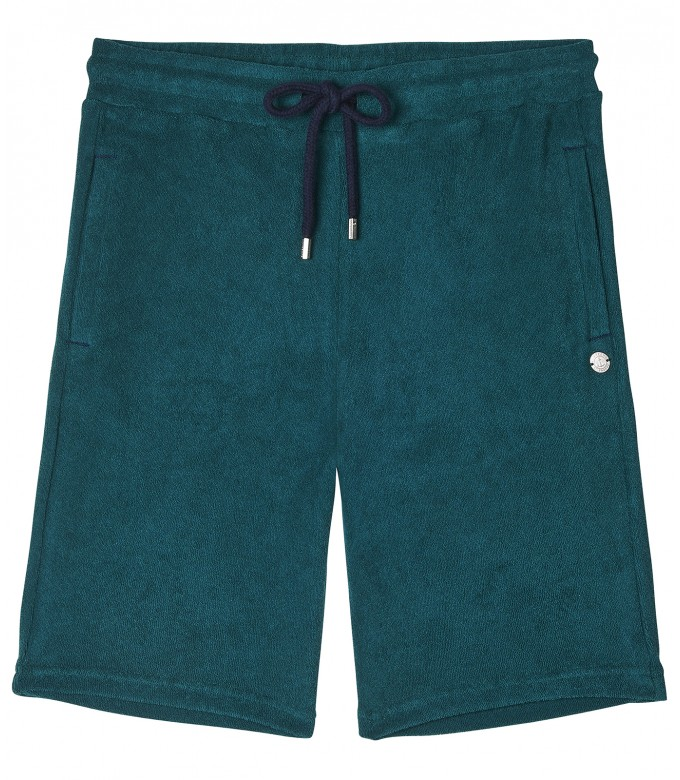 GREEN  SPONGE JOGGING SHORTS NOAH