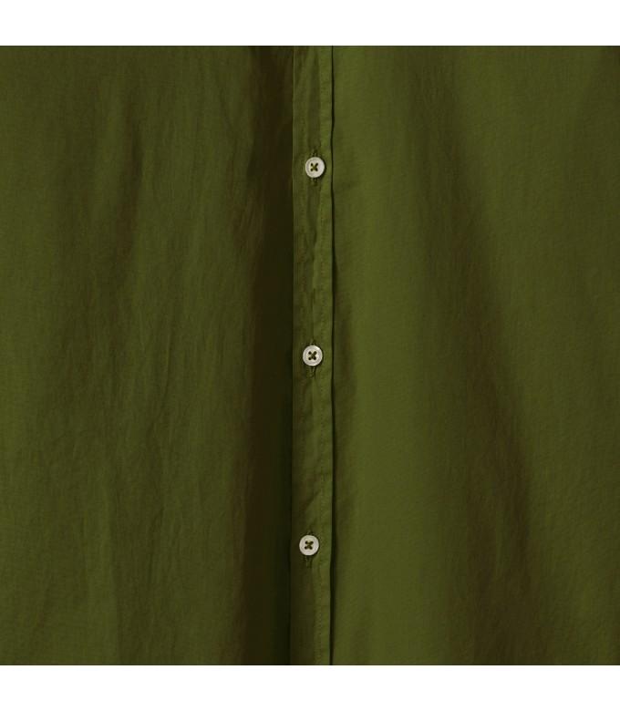 VARDY - Chemise en voile de coton unie décontractée, kaki
