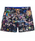 SUMMER - St Tropez painting printed navy blue swim short