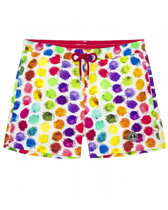BALL - Short de bain original imprimé balles multicolore