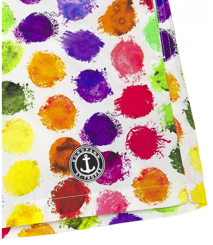 BALL - Short de bain original imprimé balles multicolore