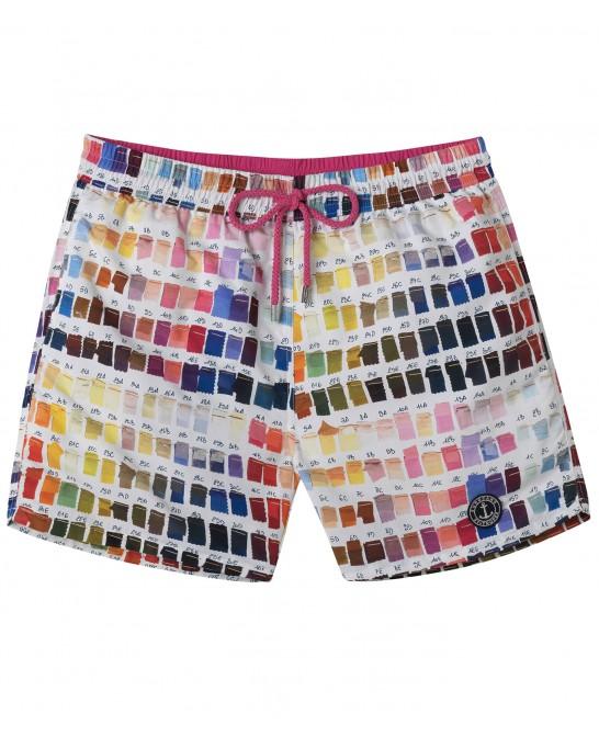 BORNEO - Pantone printed swim shorts, pink