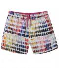 BORNEO - Multi fushia pantone print swimshort
