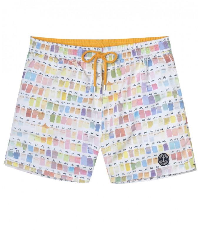 BORNEO- Short de bain imprimé pantone, pastel