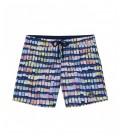 PANTONE PRINTED SWIM SHORTS BORNEO JUNIOR BLUE NAVY