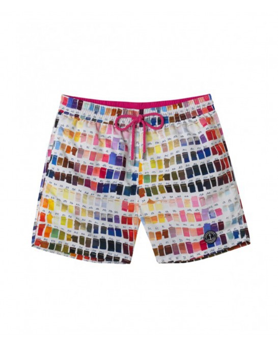BORNEO JUNIOR - Pantone printed swim shorts, multi