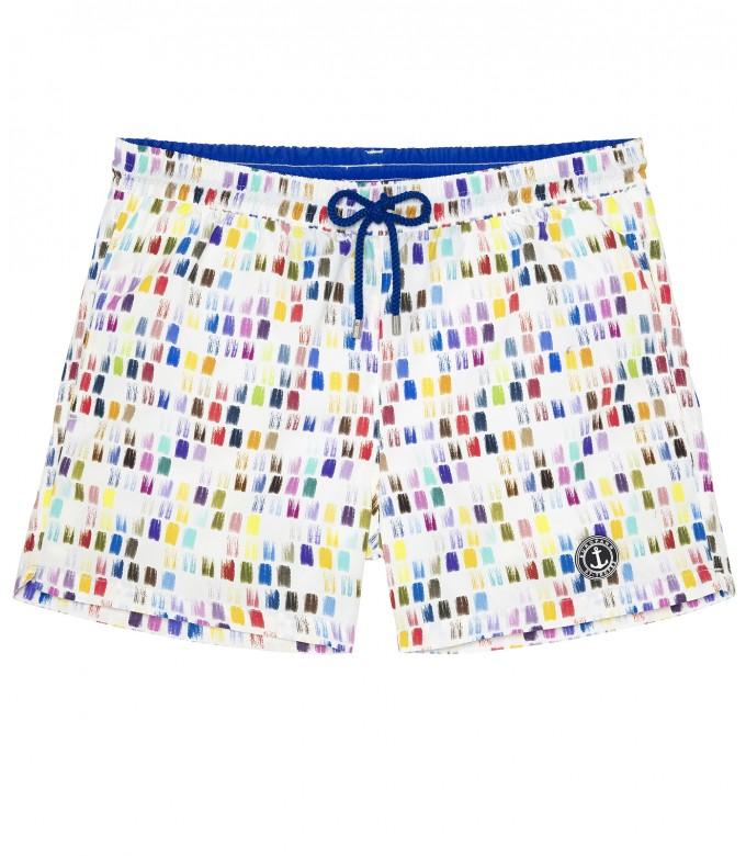 BALL - Color printed multicolored swim shorts