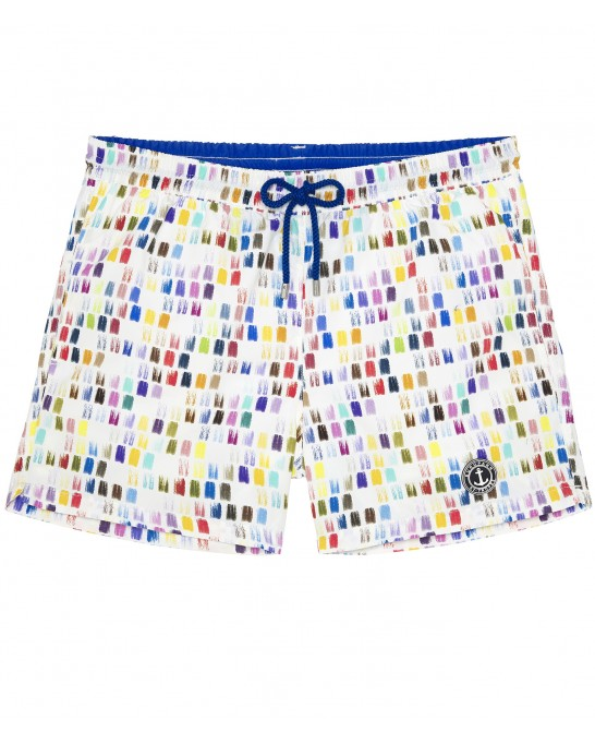 BALL - Color printed multicolored swim shorts