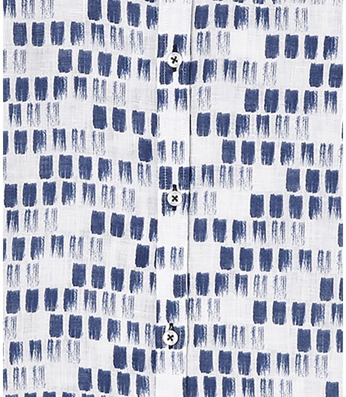 NAILS - Chemise lin imprimé peinture marine