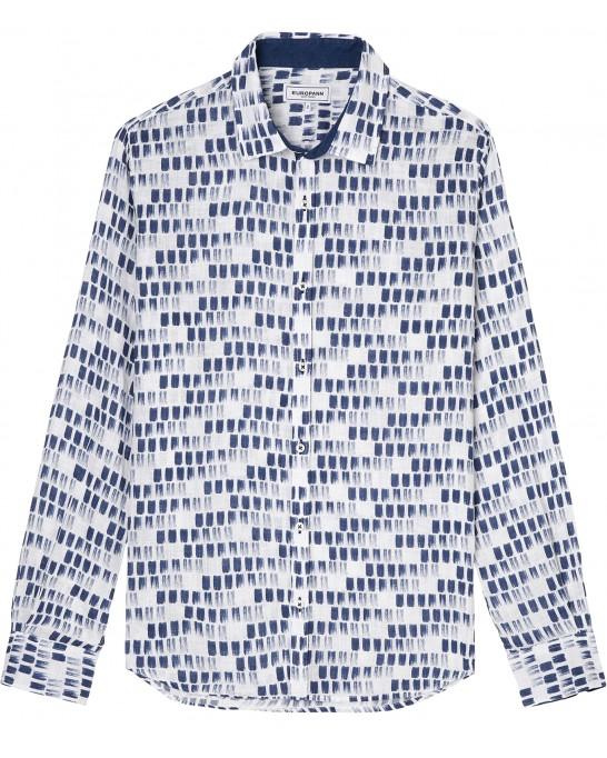 NAILS - Navy blue paint stroke linen shirt