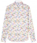 NAILS -  Multi paint stroke linen shirt