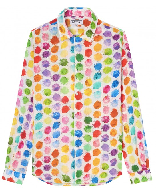 BALL - Colors ball printed linen shirt
