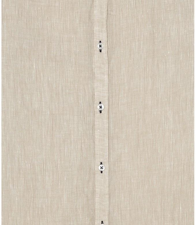 JONAS - Chemise unie lin chiné beige
