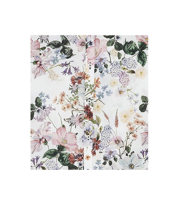 FLOWER - Chemise coton imprimé fleurie écru