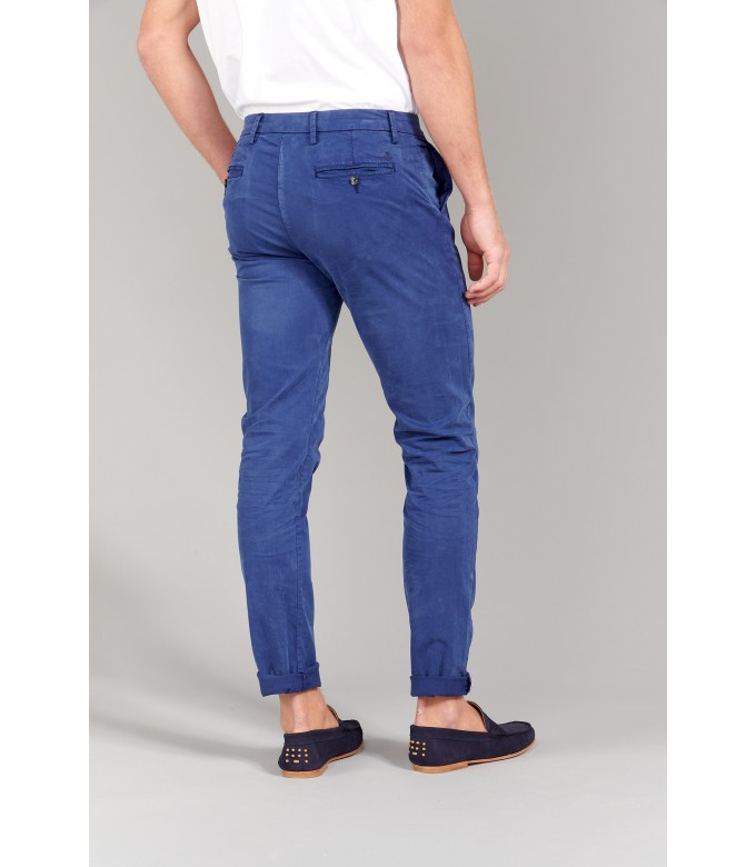 FLASH - Pantalon chino slim, encre
