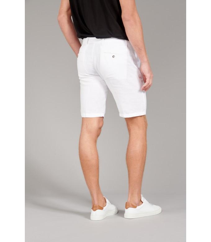 COLORADO - Casual linen bermudas, white